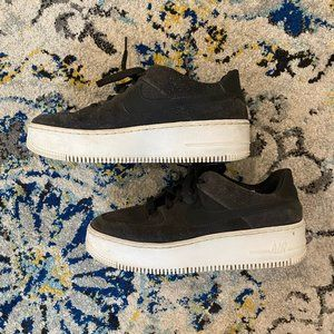 Nike Grey Air Force One Women's Shoes